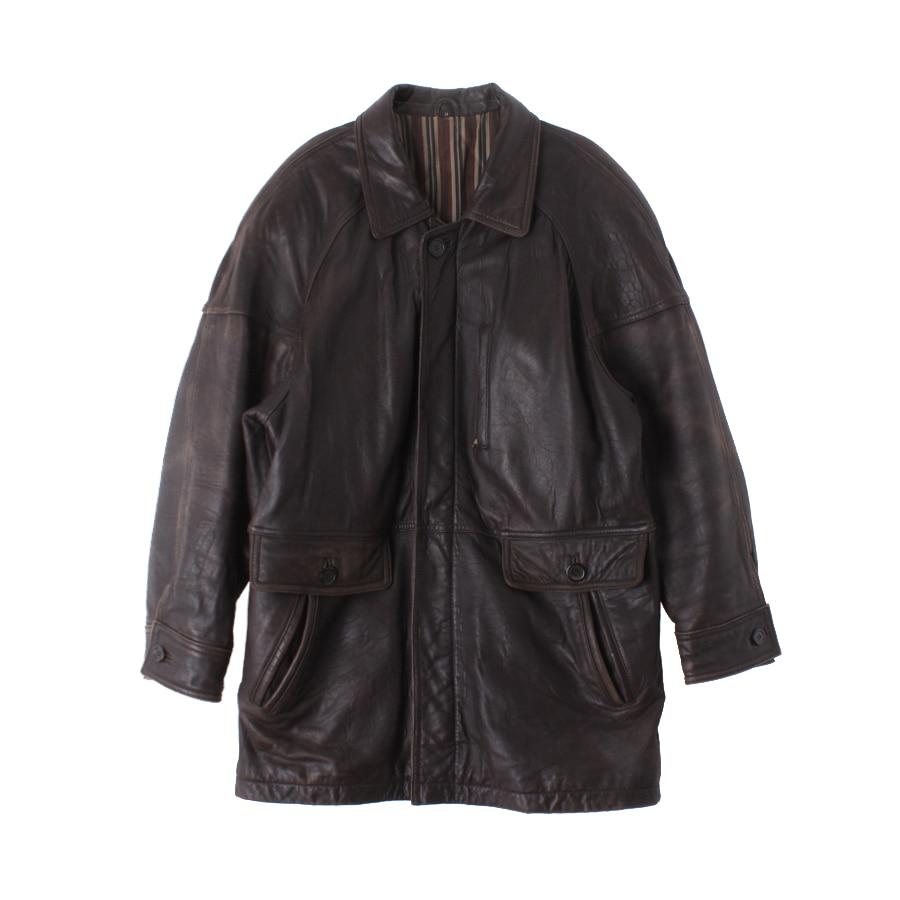 Leather Jacket 상태확인 단면cm 어깨 가슴 60 Man 대한민국 1위